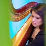 Top wedding harpist Megan performing