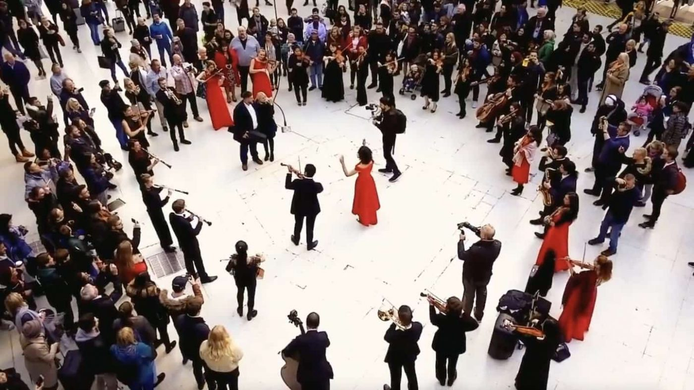 Best Wedding Proposal Ever ! Flash Mob | Elastic Lounge